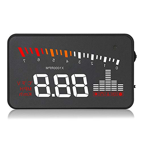SODIAL Auto-HUD-Projektor Head-Up-Display OBD2 EUOBD-Tachometer über Geschwindigkeitsalarm X5-Fahrzeugmonitor