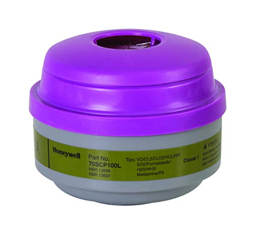 Honeywell 75SCP100L Defender Multi-Purpose Cartridge with P100 Filter, Olive/Magenta, 2.75 X 7 X 3.5