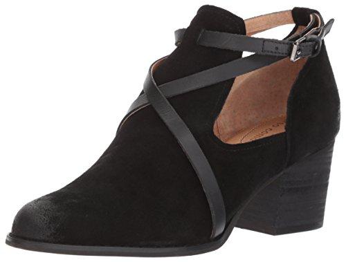 Opportunity Shoes - Corso Como Women's Hanna Fashion Boot, Black Split Suede/Black Burnish, 8.5 Medium US