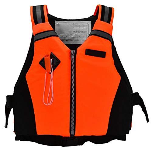 DAUERHAFT Buen Chaleco de flotabilidad de flotabilidad, para Ciclismo(Orange)