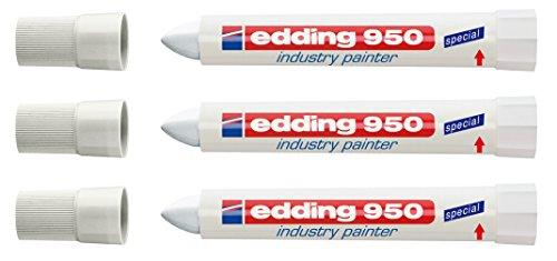 edding Spezialmarker 950 industry painter, 10 mm | (3 Marker, weiß)