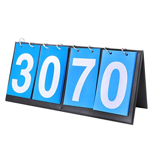 Score Keeper - Marcador impermeable de 4 dígitos para tenis de mesa