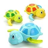 VCOSTORE Schildkröten-Badespielzeug Für Kleinkinder, 3 Stück Süßes Badewannen-Schwimmspielzeug Für Kinder