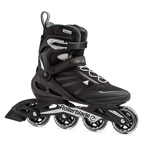 Rollerblade Zetrablade Men's Adult Fitness Inline Skate, Black and Silver, Performance Inline Skates, US Men's 9