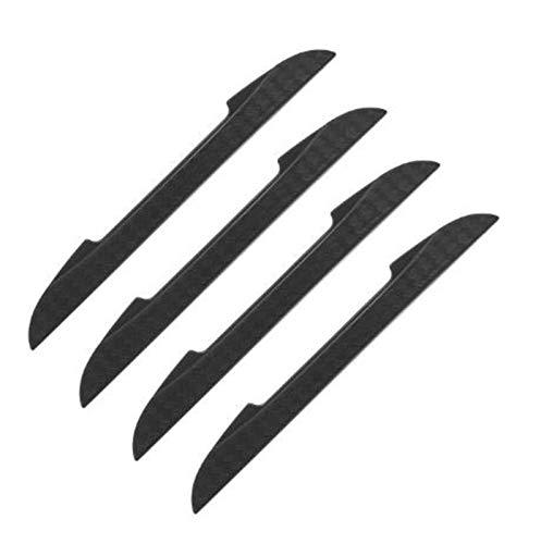 Jucaiyuan 4 stücke Auto Seitentür Kantenschutz Schutzstreifen Scrape Guard Bumper Guards Griff Abdeckung 3D Aufkleber Auto Styling Emblem (Color : Black)