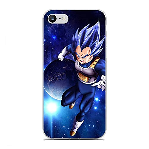 GJGSWY Case for Apple iPhone 6 Plus/6s Plus, Vegeta-Goku Blue 9 Soft TPU Clear Silikon Coque Slim Liquid Anti-Slip