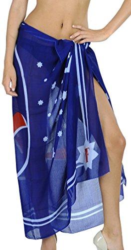 LA LEELA Damskie plażowe zakrycie bikini sarong strój kąpielowy do owijania spódnice 183 cm x 99