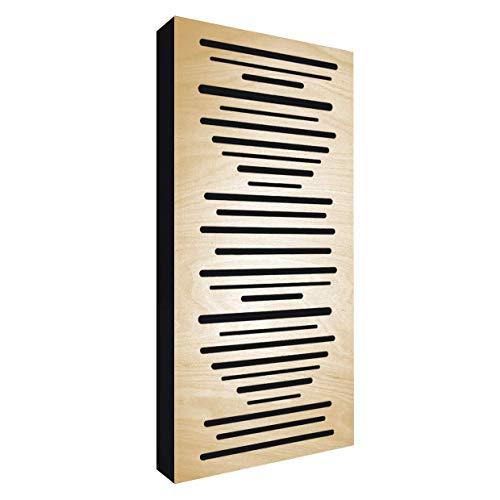 AbFuser WOOD 100x50x11,5cm by Addictive Sound | Hybride Akustikelemente verbessert die Raumakustik und Schalldämmung | Akustikpaneele – Natural