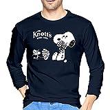 ブルームン Tシャツ 長袖 スヌーピー トレーナー シャツ 上着 ファッション カットソー Xl Navy 綿 メンズ レディース