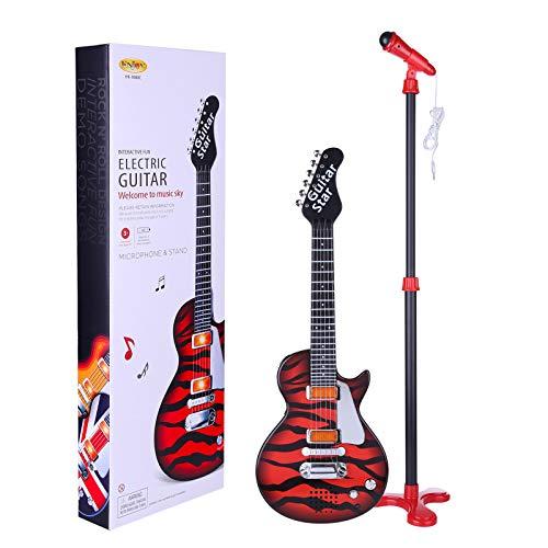 CT-Tribe Guitarra Electrica, Guitarra Infantiles con Micrófono de Pie, Guitarra de 6...