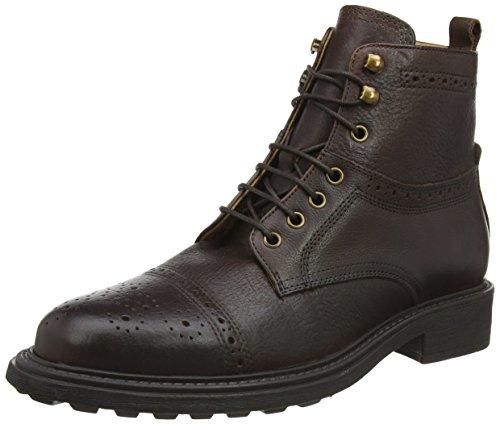Hudson London Herren Fernie Biker Boots, Braun (Brown), 44 EU