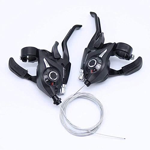 Sososhoot ST-EF51 Set 3 x 7 Schalthebel Bremshebel Combo (21 Gänge) schwarz V-Brake