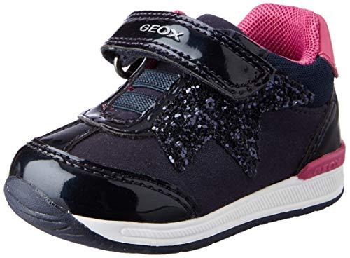 Geox Baby-Mädchen B RISHON Girl A First Walker Shoe, (Navy), 24 EU