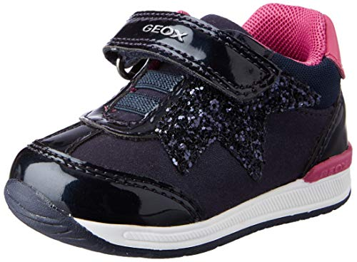 Geox B RISHON Girl A, First Walker Shoe Niñas, (Navy), 24 EU