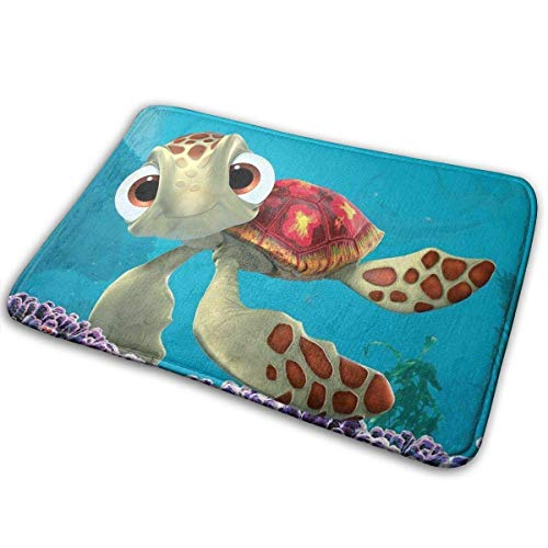 Finding Sea Turtles Bath Rugs and Mats Kwhy Memory Foam Bath Mats Non Slip Soft Absorbent Bath Rugs Rubber Back Runner Mat for Kitchen Bathroom Floors 15.7' X 23.5', White