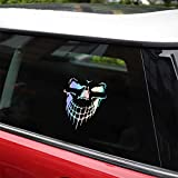 Skull Stickers and Decals for Car Windows Doors, 3D Reflective Waterproof Skull Decals for Cars Trucks (Mulitcolour)