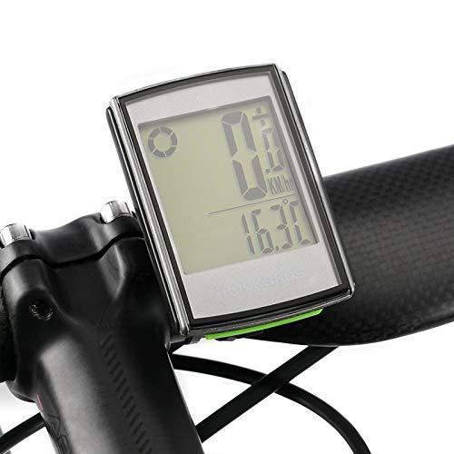 LQUIDE Vélo Étanche Vélo Ordinateur LCD Rétro-Éclairage Chronomètre sans Fil Compteur De Vitesse Odomètre VTT Accessoires