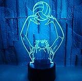 Nouveau sport 3D veilleuse jouant au volley-ball Handball spike bloc joueur coloré moderne lampe de Table noël enfants cadeau décor