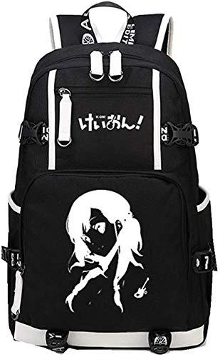 AUGYUESS Anime fan,Anime gift,cosplay gifts,Anime K ON Backpack HDR-45645 Hirasawa Yui Akiyama Mio Luminous Schoolbag Cosplay