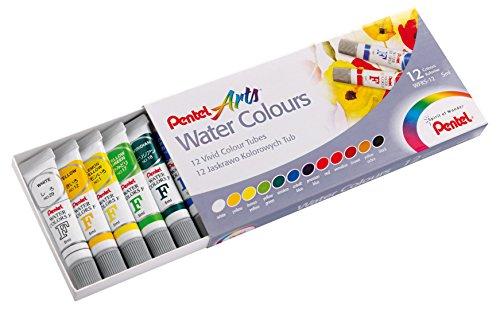 Pentel WFRS2-12 Acquerelli in Tubo da 12 colori, Multicolore