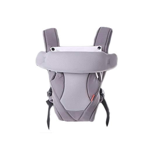 2-30 meses Portabebés transpirable con vista frontal Cómodo Sling Mochila Bolsa Wrap Baby Kangaroo Portador ajustable (Color : Gray)