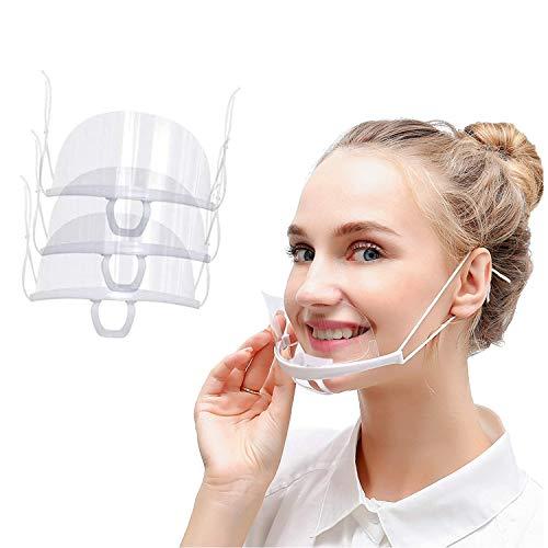 Safety Gesichtsschutzschild Kunststoff Visier Gesichtsschutz Anti-Fog Anti-Öl Splash Transparent Schutzvisier - für das Gesicht – effektiv & hygienisch (3 Stück)