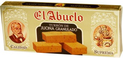 Turrón de Jijona El Abuelo, artesano, 300 gramos, blando con denominación de Origen.