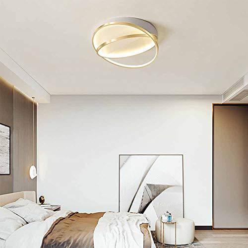 Lámpara de Techo LED Luz Dormitorio Plafón de techo moderno diseño de anillo regulable con mando a distancia Sala de Estar Iluminación 25W Redondo Luz Interior Temperatura Regulable (3000-6000K)