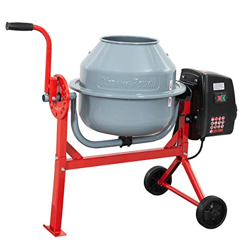 XtremepowerUS 1.6 Cu. Ft. Concrete Cement Mixer Barrow Machine Mixing Mortar, Stucco and Seeds