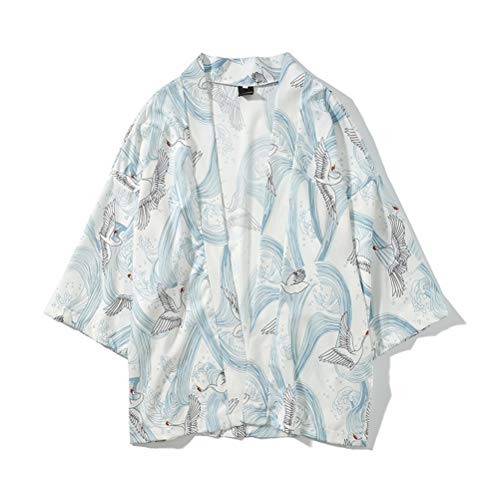 Ukiyo-e T-Shirt, Japanese Summer Men's Japan Happi Kimono
