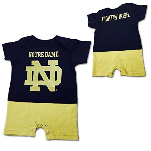 Outerstuff Notre Dame Fighting Irish Infant/Baby Blue Fan Jersey Romper 0/3 Months