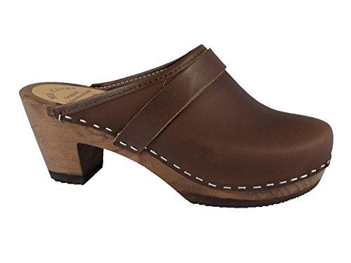 clasificación y comparación Zapatos de mujer de piel marrón engrasada (38) para casa