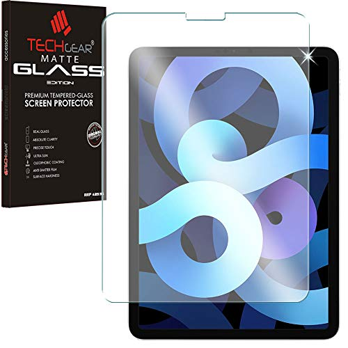 TECHGEAR Anti Glare iPad Air 4, 4th Generation Screen Protector, MATTE Glass Edition Tempered Glass Screen Protector [9H Toughness] [Scratch-Resistant] [No-Bubble] Designed For iPad Air 10.9' 2020