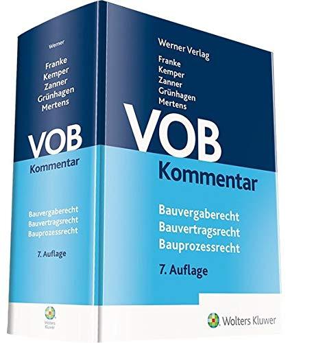 VOB Kommentar: Bauvergaberecht - Bauvertragsrecht - Bauprozessrecht