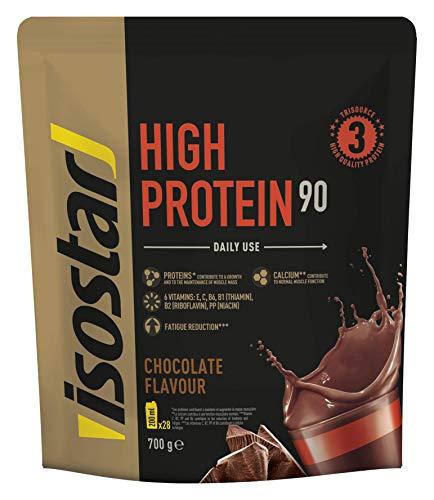 Isostar High Protein 90 - hochwertiges Proteinpulver - Eiweißpulver mit Aminosäuren und Calcium zum effektiven Muskelaufbau - Schokolade, 700 g