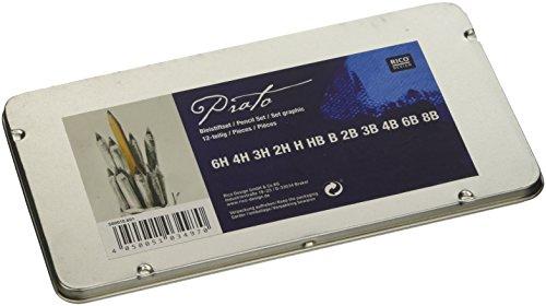 Bleistiftset: 12 Bleistifte: je 1 x 6H, 4H, 3H, 2H, H, HB, B, 2B, 3B, 4B, 6B, 8B