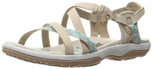 Skechers Women's Regga Slim Keep Close Gladiator Sandal,Taupe/Aqua,5 M US