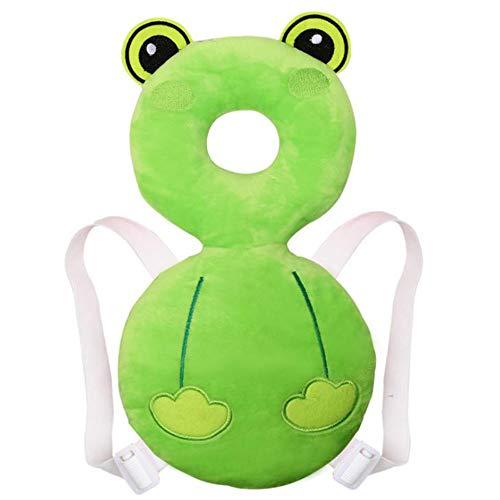 GGJJ ZHZZ Baby Rückenkopf Atemschutz Pad Kind Anti-Fall Kleinkind Walking Kopfstütze für 8-36 Monate Baby, grün