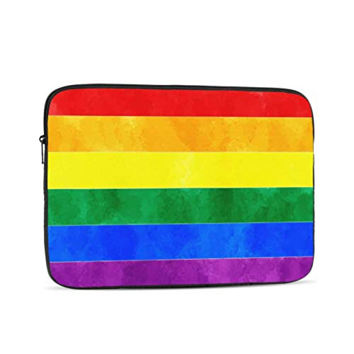 Multicolored Flags in Colors of Rainbow Pattern 15 Inch to 15.6 Inch Laptop Sleeve Carrying Case Neoprene Sleeve for Acer/asus/dell/Lenovo/MacBook Pro/hp/Samsung/Sony/Toshiba