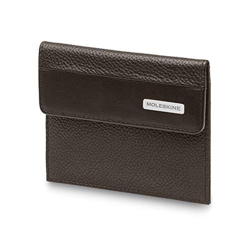 Moleskine - Cartera de Piel con Bolsillo para Monedas y 2 Bolsillos para Tarjetas de crédito, tamaño 10.5 x 2.6 x 14 cm, marrón