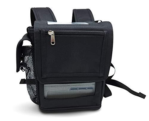 O2TOTES Leichte Tragetasche für Inogen One G5 Sauerstoffkonzentrator, tragbarer Sauerstoff-Rucksack mit verstellbaren Riemen und Reißverschlusstaschen, Schwarz