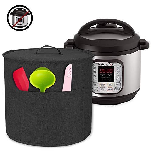 Luxja Abdeckhaube für Instant Pot IP-DUO60, Anti-Staub Abdeckung für 6 Liter Elektrische Schnellkochtöpfe und Zubehör, Schwarz