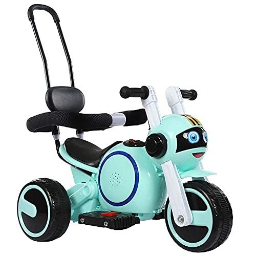 Decoración del hogar Los niños montan en un coche de juguete de 3 ruedas, una motocicleta de juguete, un scooter eléctrico, un cochecito de motor con manija de empuje y barandilla, un vehículo