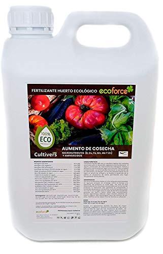 CULTIVERS Fertilizante Líquido para Huerto Ecológico de 5 L. Abono para Hortalizas 100% Orgánico...