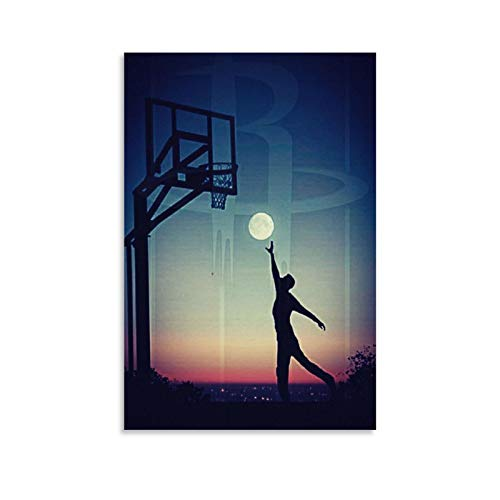 ASDQA Basketball3 Leinwand-Kunst-Poster und Wandkunstdruck, modernes Familienschlafzimmerdekor, 30 x 45 cm