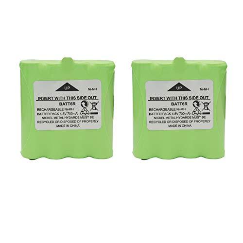 Karier 2Pcs 4.8V 700mAh Ni-MH BATT6R Battery Pack for Midland Two Way Radio LXT500VP3 LXT500 LXT560VP3 LXT560 LXT535VP3 LXT535 LXT326 LXT380 LXT490