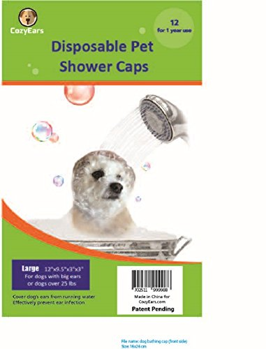 Disposable Pet Shower Caps, Ear Infection...