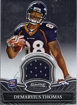 2010 Bowman Sterling #BSRDT Demaryius Thomas RC Player-Worn Jersey Card - Denver Broncos