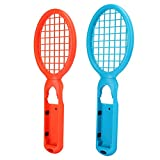 EVGATSAUTO Motion Sensing Tennis Racket, Joy Tennis Game Controller, Mario Tennis Accessories Tennis Racket for Switch Game Console(Red + Blue (Color Box))