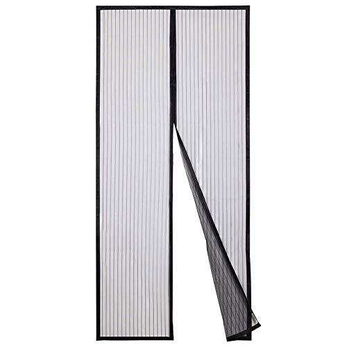 Vliegenhordeur voor deur, zacht, met automatische sluiting, zwart 135x265cm(53x104inch)